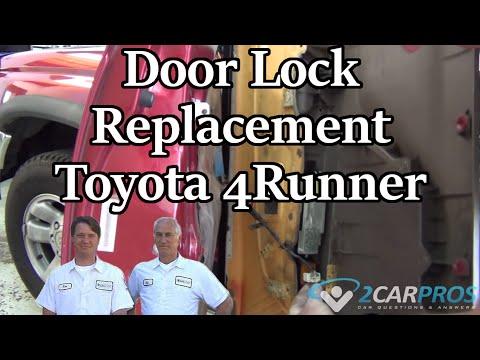 Door Lock Replacement Toyota 4runner 1995 2002 Youtube
