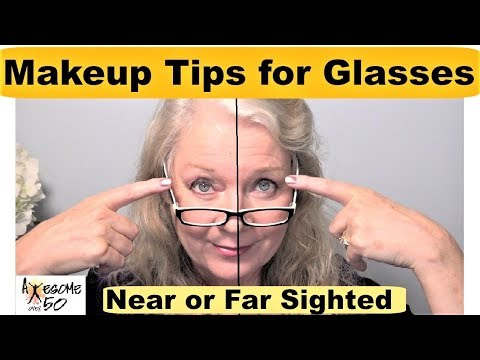 Makeup Tips: Eye Makeup Glasses for Over 50s Mature Women