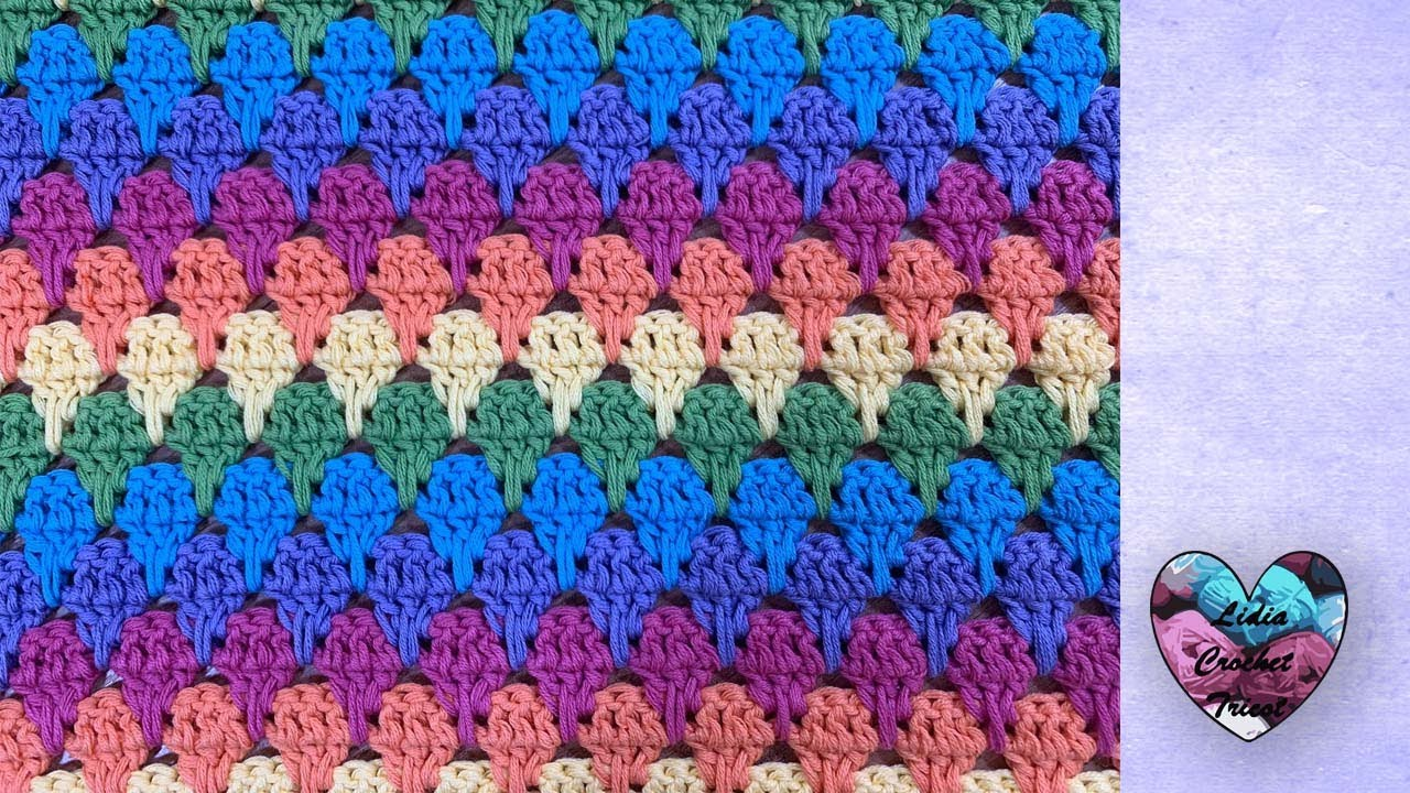 """Point Relief Arc en ciel Crochet """"Lidia Crochet Tricot"""""""