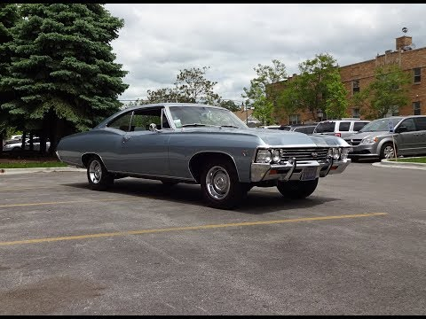 1967 Chevrolet Chevy Impala SS in Elkhart Blue & 427 Engine Sound on My Car Story with Lou Costabile