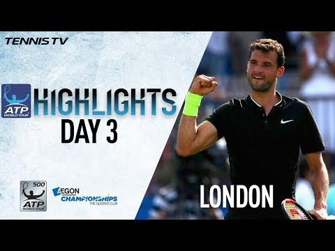 Highlights: Dimitrov Berdych Advance At Queen's