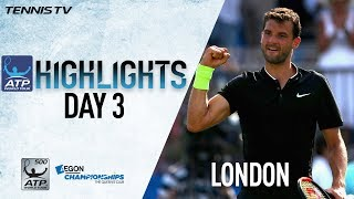 Watch highlights from Wednesday as Grigor Dimitrov, Gilles Muller, ...