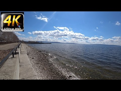 4K UHD   On the Volga river Nature Relaxation part1