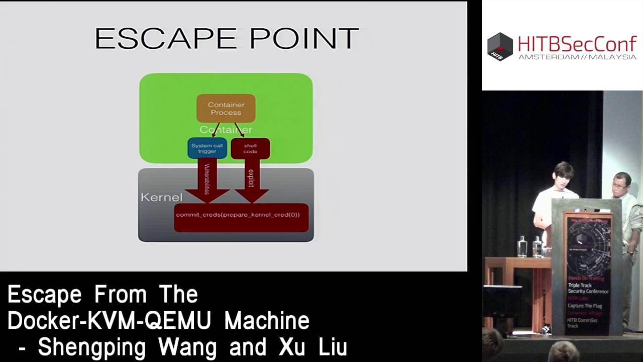 Escape From The Docker-KVM-QEMU Machine « HITBSecConf2016 – Amsterdam