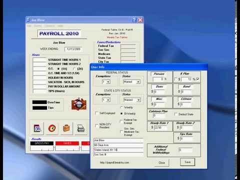 Payroll Software Withholding Tax For 2012