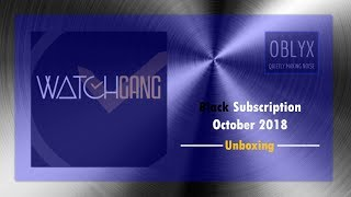 Watch Gang Black Subscription October 2018 Unboxing