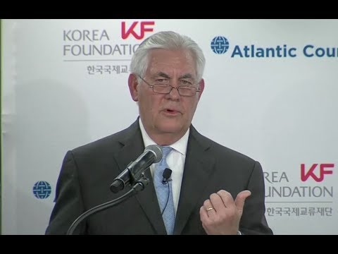 "Tillerson To North Korea: ""Let's Just Meet"" - Full Comments To Atlantic Council"