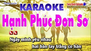 Hạnh Phúc Đơn Sơ Karaoke - Nhạc Sống Tùng Bách