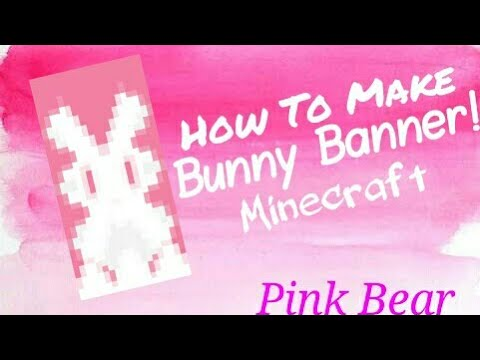 how to make a bunny banner in minecraft