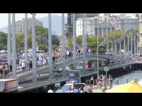 """BARCELONA WATERFRONT, PORT VELL, """"2014 SOLOAROUNDWORLD IN 25 DAYS"""", PAUL HODGE, Ch 47"""