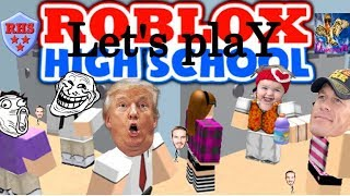 VIOLENT child hits father repeatedly over a video game!! Let's Play Roblox High School oceanhawk