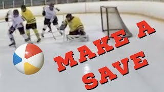 Hey Stripes! The Micd Up GoPro Hockey Ref - Game 156 - Make a save