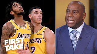 Magic Johnson reveals Lakers' expectations, how to beat Warriors | First Take