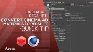 Convert Cinema 4d materials to Redshift materials