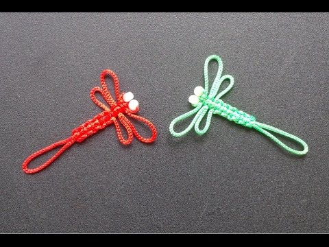 How To Make Paracord Dragonfly Keychain - Craft Tutorial - YouTube 8d76a50b7