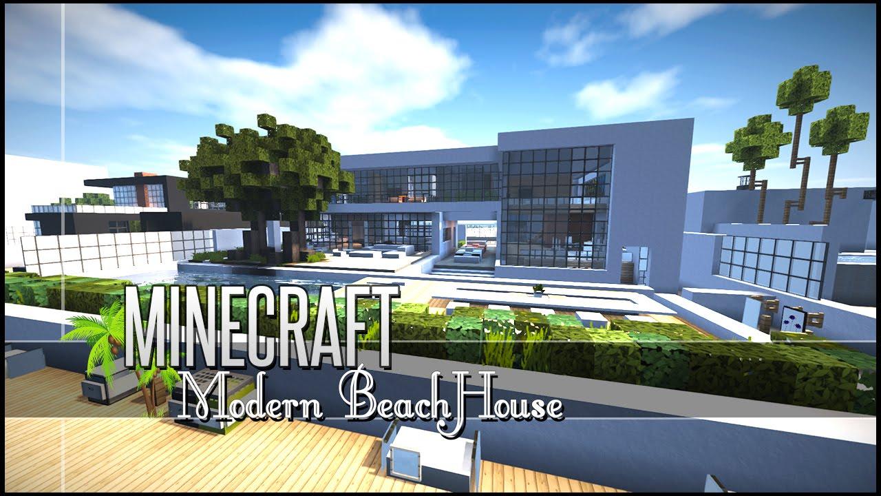Minecraft Build Review  Sleek Modern Beach House  Youtube