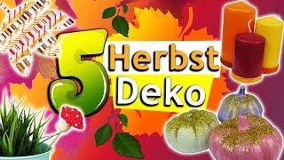 5 HERBST DEKO Ideen 2018 selber machen | Süße Dekoration für dein Zimmer | DIY Inspiration deutsch