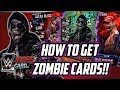 WWE SUPERCARD HOW TO GET ZOMBIE CARDS FOR FREE!!!