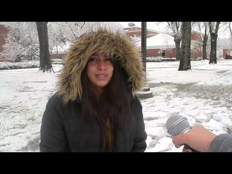 Weather Snow Tyler Junior College 2015