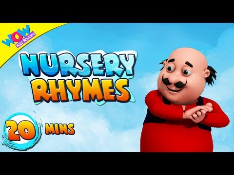 Clap Your Hands & Many More Rhymes I 20 Minutes+ of Motu Patlu | Nursery songs by WowKidz Rhymes