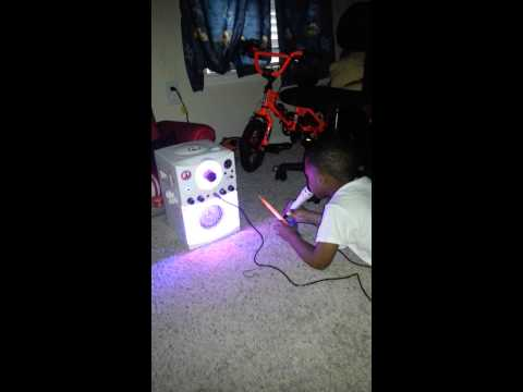 Dj's light show karaoke singing machine