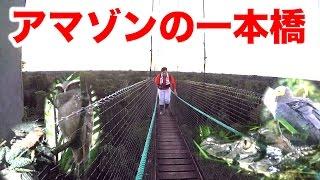 【アマゾン3】アマゾン最恐の一本橋でハプニングが起きた!!!
