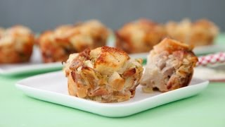 Apple Sausage Stuffing Bites - Easy Thanksgiving Sides - Weelicious