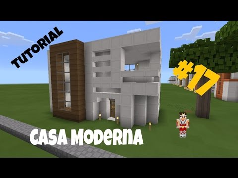 Como hacer una casa moderna 17 minecraft pe for Casa moderna para minecraft pe 0 14 0