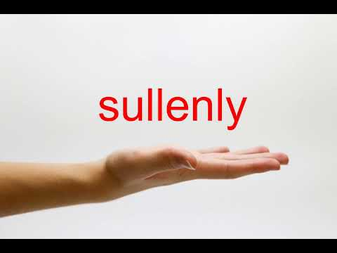 How to Pronounce sullenly - American English