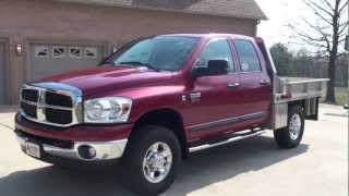 Hd Video 2007 Dodge Ram 2500 Slt 4x4 Crew Cab Flat Bed Diesel For Sale See Www.sunsetmilan.com