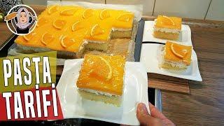 Pasta Tarifi+Portakalli pudingli pasta+Cok hafif bir lezzeti var -Hatice Mazi