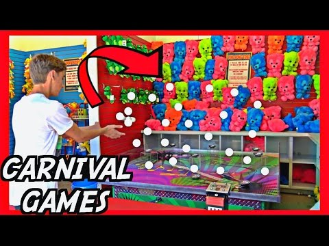 ★Carnival Games! The Best Strategies To Win!! Carnival Game Tips Tricks & Secrets!!! ~ ClawTuber