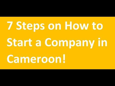 How to start a Company in Cameroon