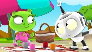 Rob the Robot | PICNIC PANIC | Galaxy Picnic Adventure | Funny Animated Series by Oddbods & Friends
