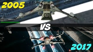 Battlefront 2: Space Battles Expectations VS Reality | Star Wars 2005 vs 2017