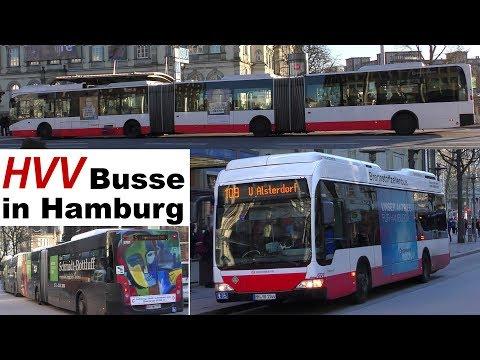 Moderne HVV Busse In Hamburg - Buses - XXL Bus - Batteriebus - Brennstoffzellenbus