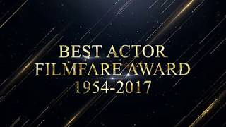 Filmfare award every best actor winners from1954 to 2017