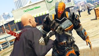 GTA 5 PC Mods - ULTIMATE DEATHSTROKE MOD! GTA 5 Deathstroke Mod Gameplay! (GTA 5 Mod Gameplay)