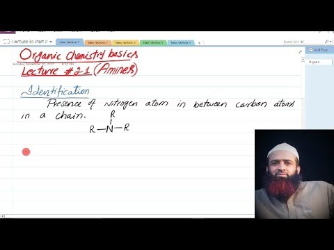 Quetta tv, Organic chemistry basics, lecture # 21, amines,   urdu/hindi