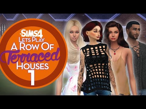 The Sims 4 - A Row of Terraced Houses – Part One – A pint in the pub with the Lads! ♡