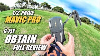 C-FLY OBTAIN Review - Half Priced DJI Mavic Pro (Full Review with Fly Away & Crash!) 😱😰😿