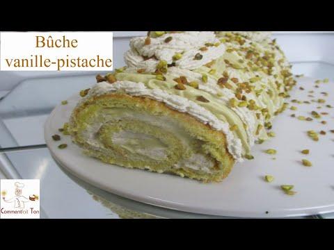 bûche-à-la-vanille-et-à-la-pistache---recette-de-gâteau-roulé-par-commentfait-ton