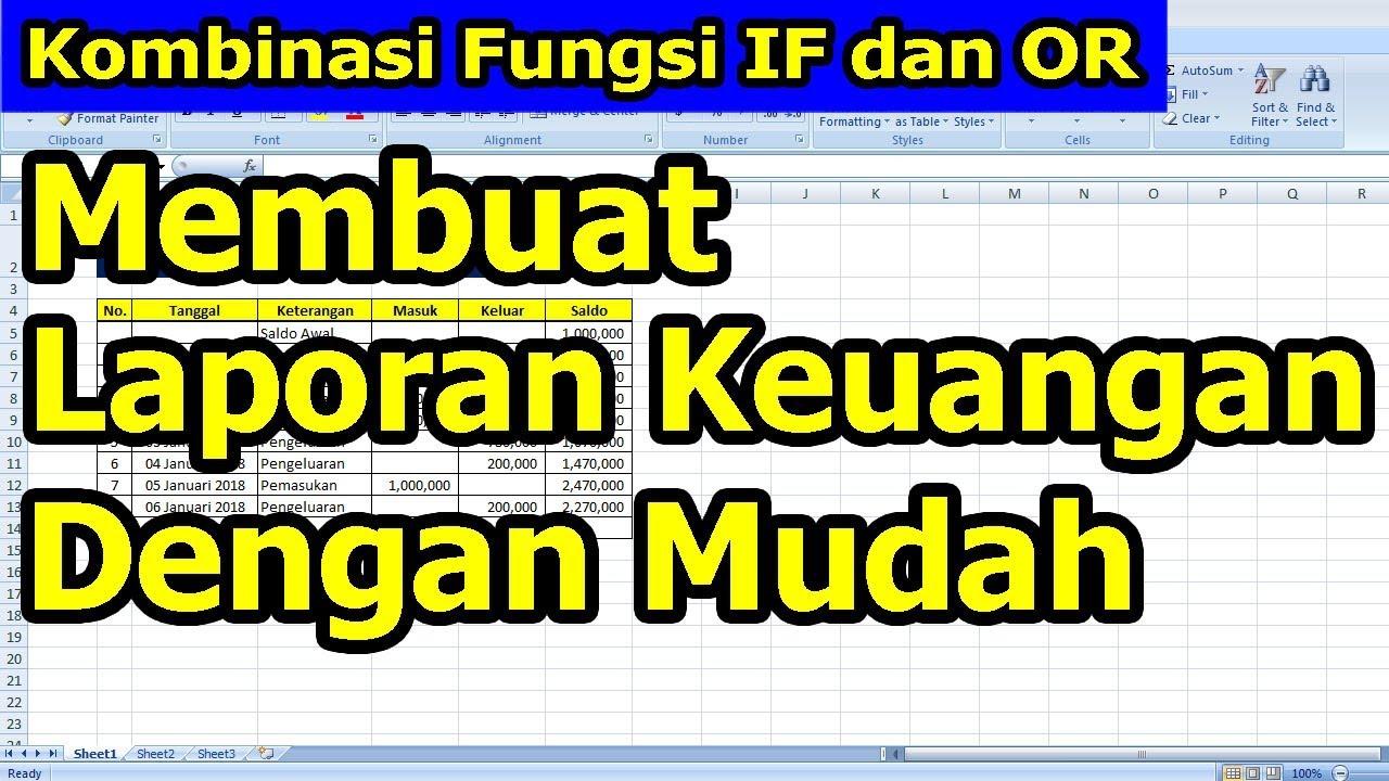 Membuat Laporan Keuangan Menggunakan Microsoft Excel