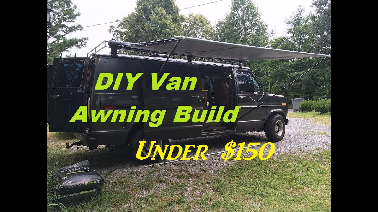 DIY Retractable Camper Van Awning Build for under $150