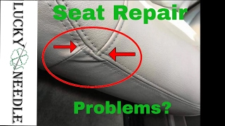 Car Seat Repair Troubleshooting - Common problems when repairing seats - How to sew corners