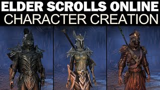 The Elder Scrolls Online - Full Character Creation ( Male & Female, All Races, Classes & Options!)