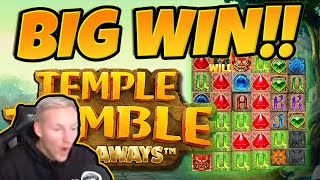 Huge Win! Temple Tumble BIG WIN - Epic Win on Online slots from CasinoDaddy LIVE Stream
