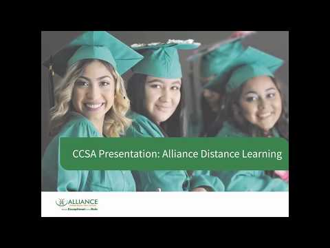 Alliance Distance Learning With Grades 6-12