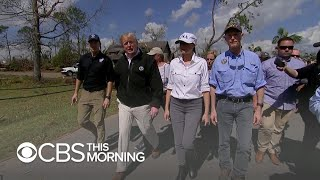 President visits Florida nearly a week after hurricane ravaged panhandle