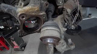 ТЦЛ. LC200, 120, 150, HILUX, и т. п.  Замена переднего ступичного подшипника.